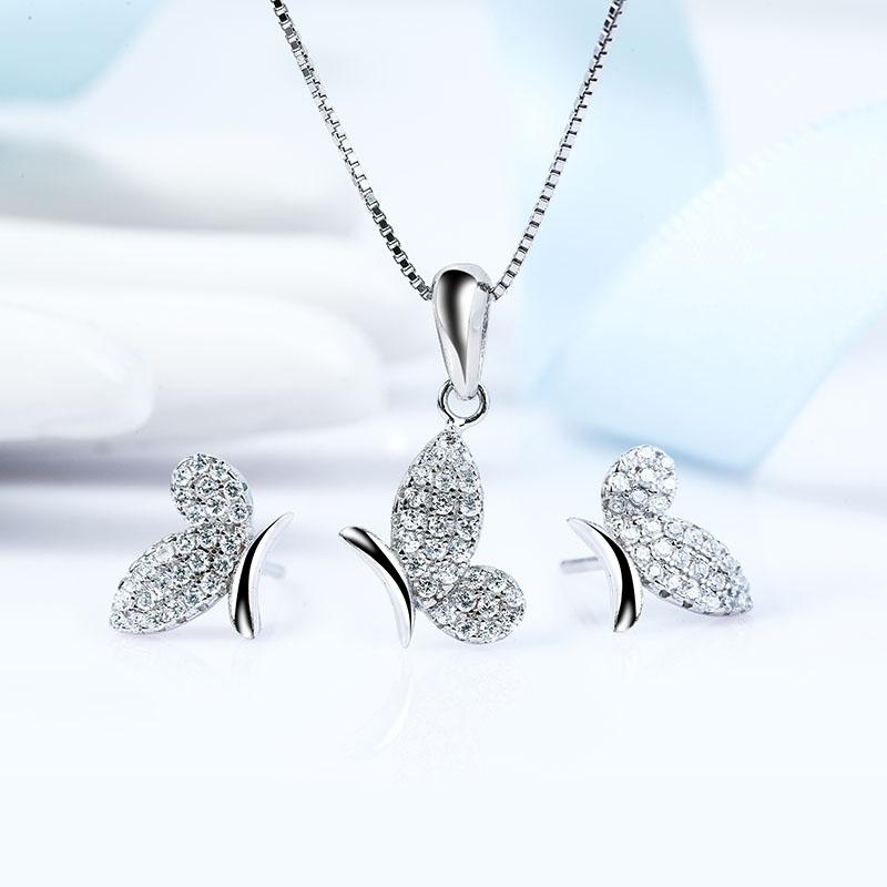 Bộ trang sức bạc Alfa Butterfly