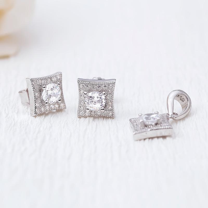 Bộ trang sức bạc Alvina Love
