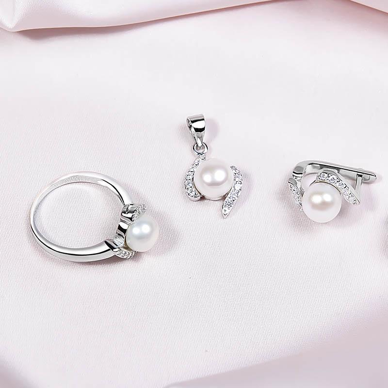 Bộ trang sức bạc Antique Pearl