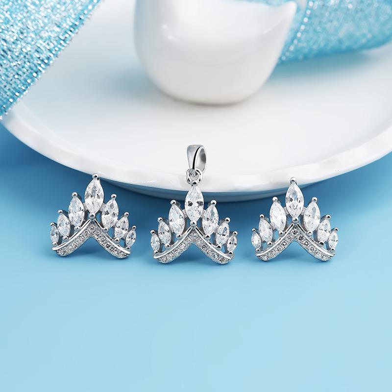 Bộ trang sức bạc Beauty Crown - 4451843 , 101070145 , 249_101070145 , 826000 , Bo-trang-suc-bac-Beauty-Crown-249_101070145 , eropi.com , Bộ trang sức bạc Beauty Crown