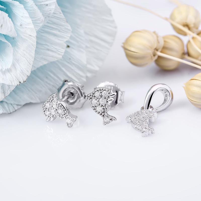 Bộ trang sức bạc Beauty Dolphin - 4452083 , 101070216 , 249_101070216 , 348000 , Bo-trang-suc-bac-Beauty-Dolphin-249_101070216 , eropi.com , Bộ trang sức bạc Beauty Dolphin