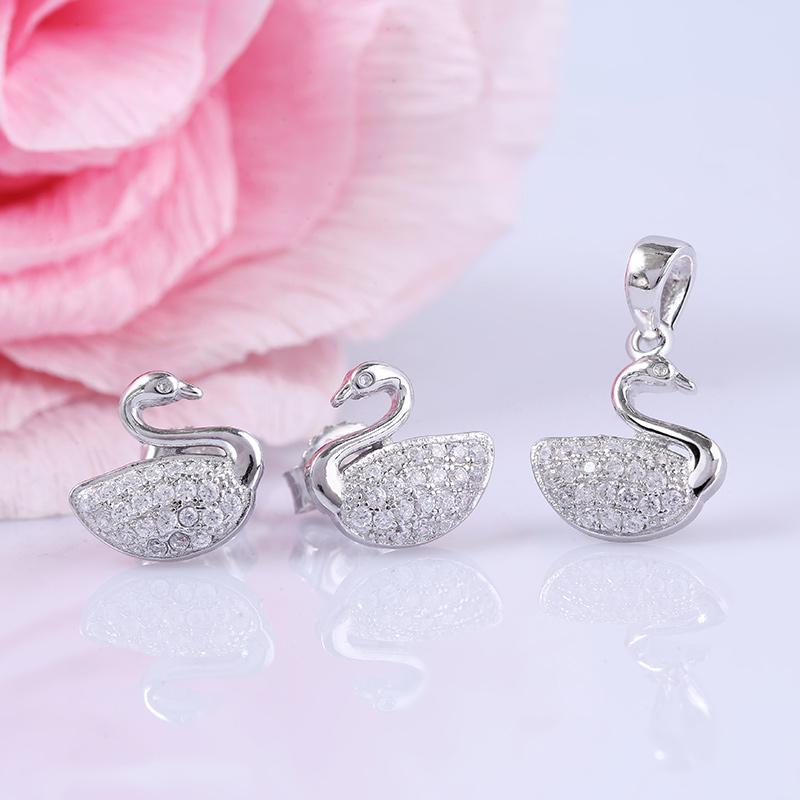 Bộ trang sức bạc Beauty Duck