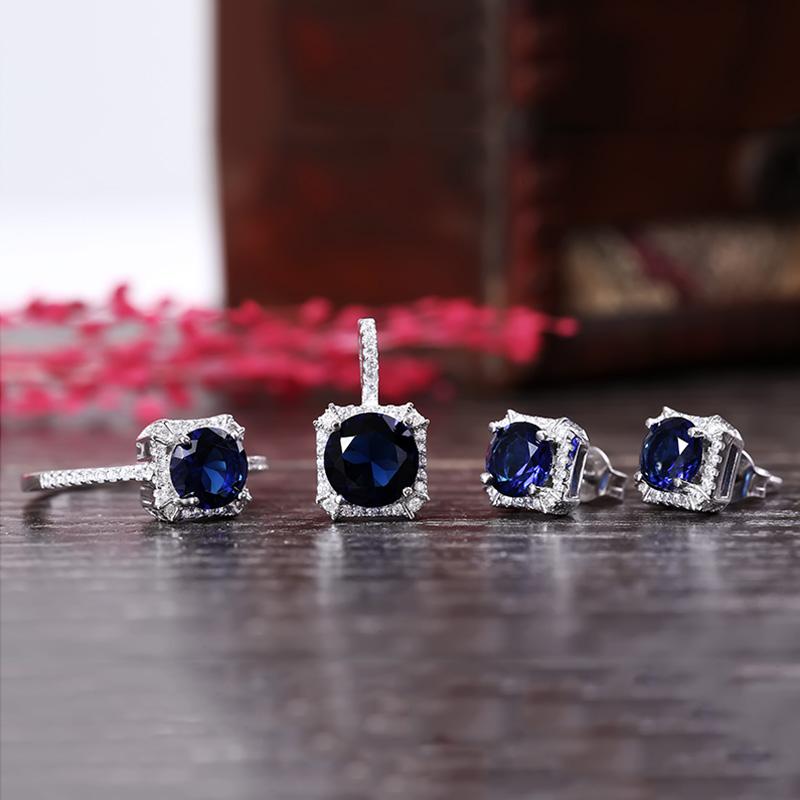 Bộ trang sức bạc Blue Ocean - 4450105 , 102080045 , 249_102080045 , 1047000 , Bo-trang-suc-bac-Blue-Ocean-249_102080045 , eropi.com , Bộ trang sức bạc Blue Ocean