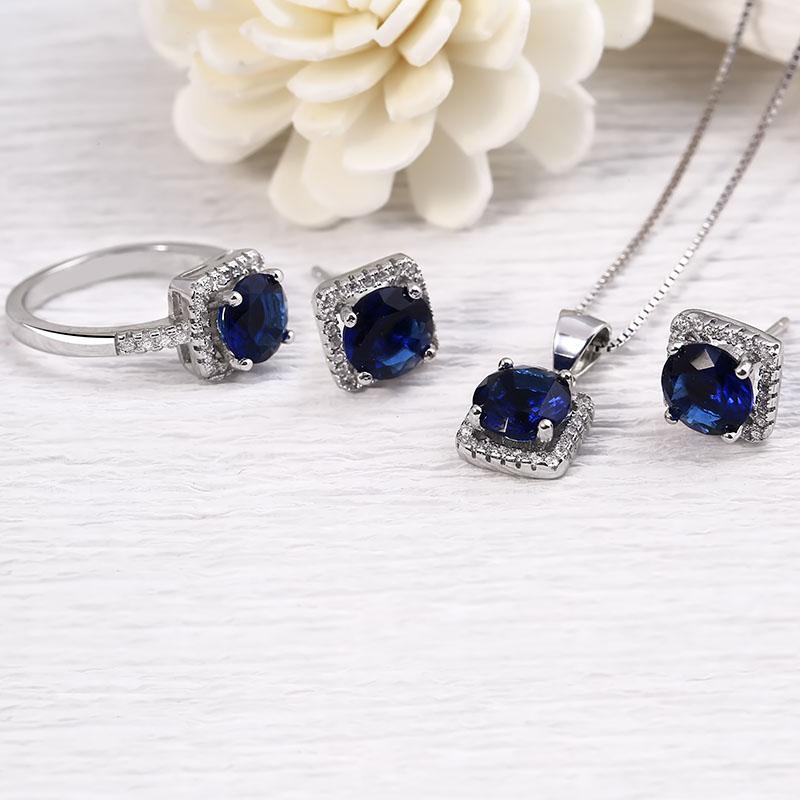 Bộ trang sức bạc Blue Sea