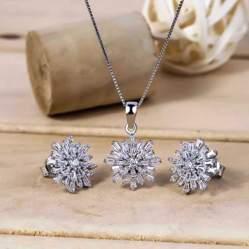 Bộ trang sức bạc Chrysanthemum
