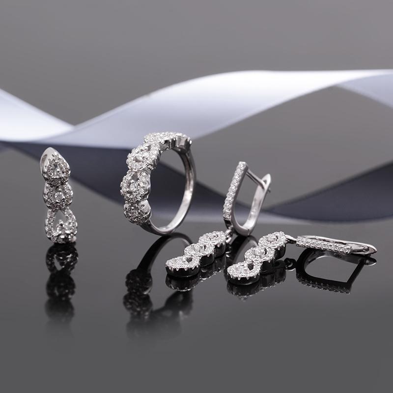 Bộ trang sức bạc Dewdrop - 4450130 , 102080008 , 249_102080008 , 1401000 , Bo-trang-suc-bac-Dewdrop-249_102080008 , eropi.com , Bộ trang sức bạc Dewdrop