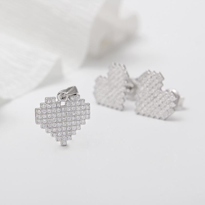 Bộ trang sức bạc Heartbeat