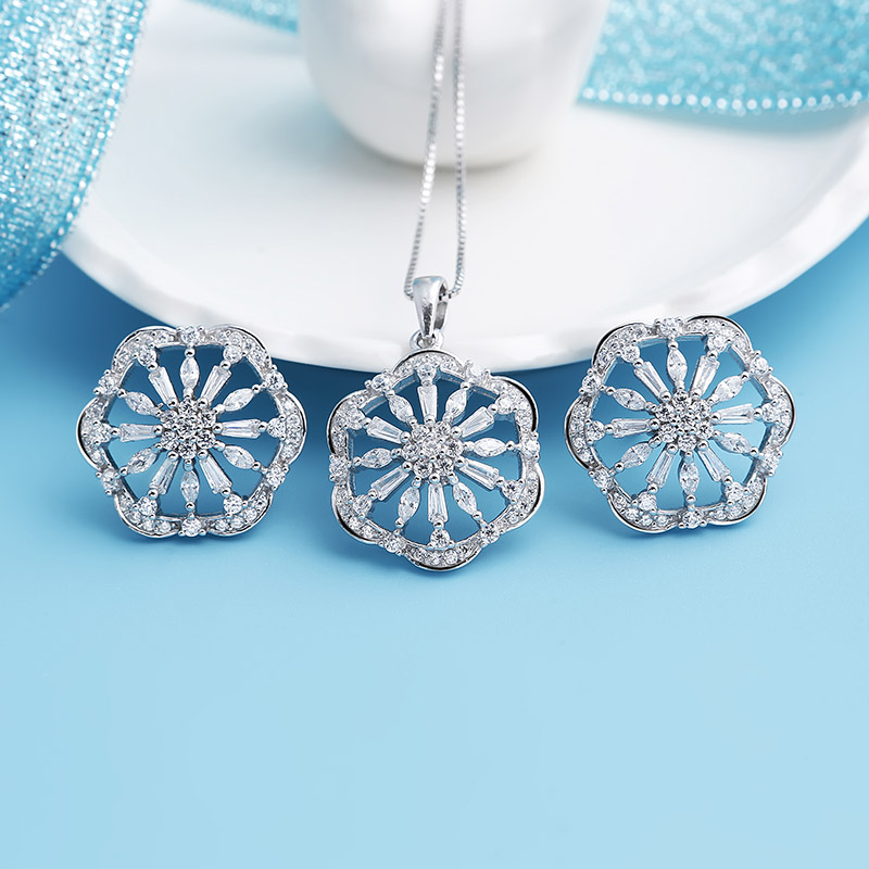 Bộ trang sức bạc Hexagon