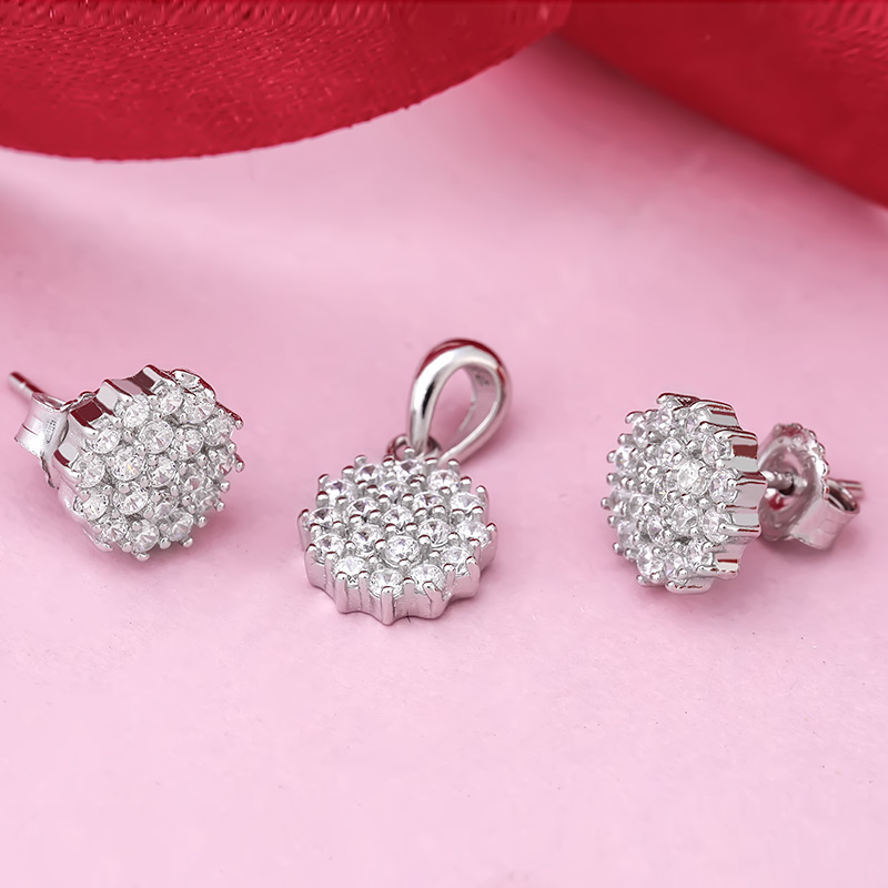 Bộ trang sức bạc Jamille Flower