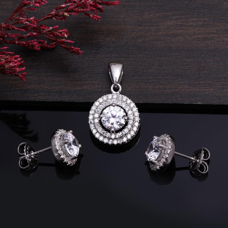 Bộ trang sức bạc Jammi Circle - 4450146 , 101070612 , 249_101070612 , 778000 , Bo-trang-suc-bac-Jammi-Circle-249_101070612 , eropi.com , Bộ trang sức bạc Jammi Circle
