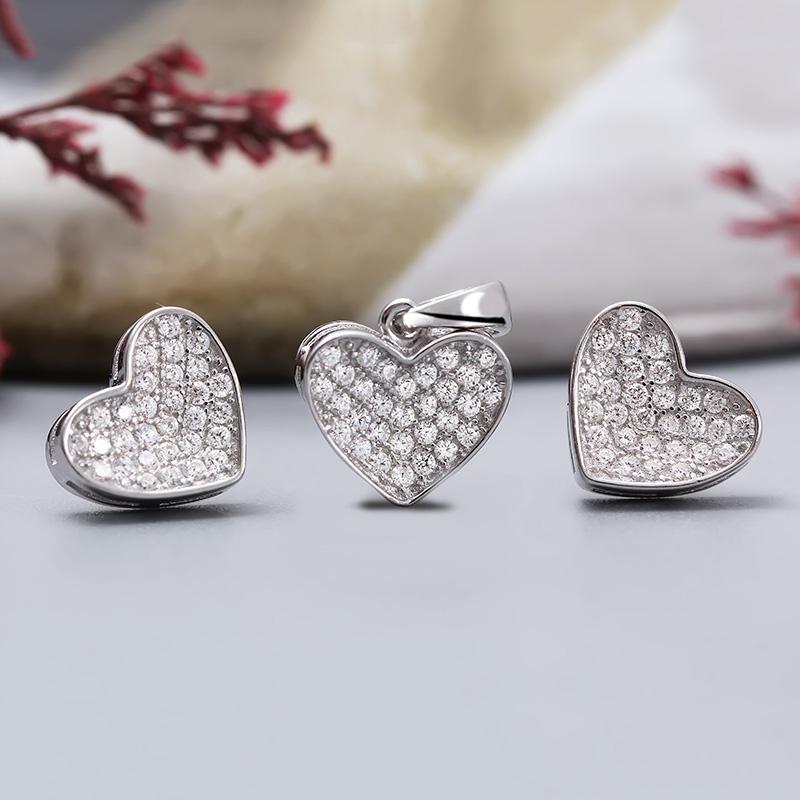 Bộ trang sức bạc Little Hearts