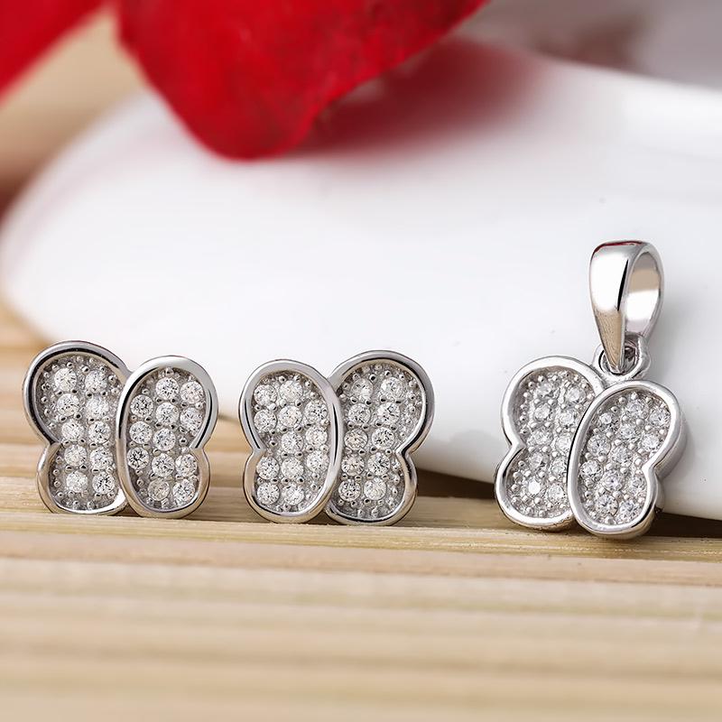 Bộ trang sức bạc Love Butterfly - 4452092 , 101070112 , 249_101070112 , 513000 , Bo-trang-suc-bac-Love-Butterfly-249_101070112 , eropi.com , Bộ trang sức bạc Love Butterfly