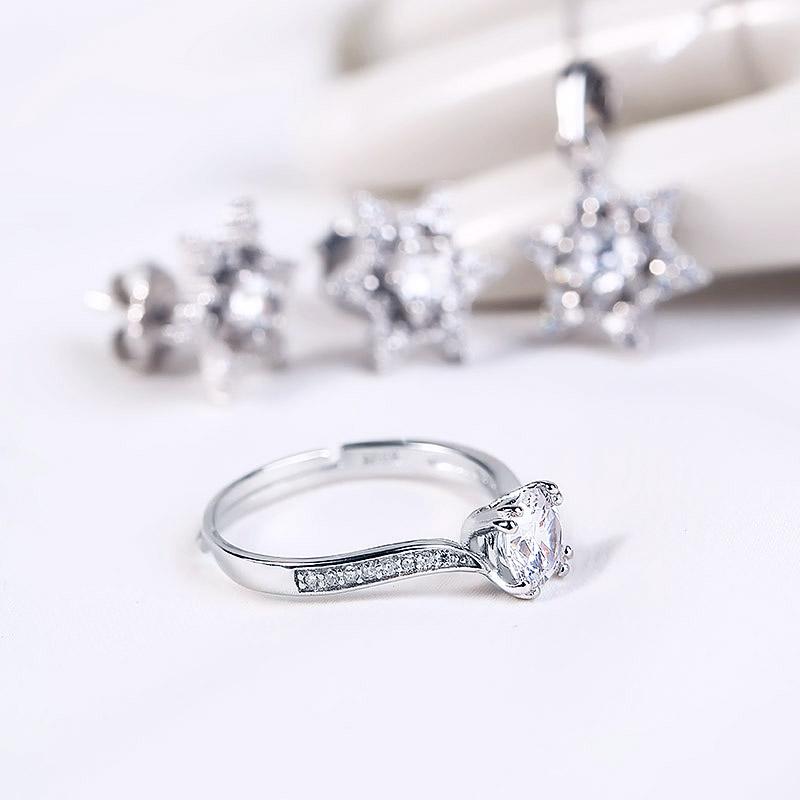 Bộ trang sức bạc Love Star - 4450714 , 100090007 , 249_100090007 , 984000 , Bo-trang-suc-bac-Love-Star-249_100090007 , eropi.com , Bộ trang sức bạc Love Star