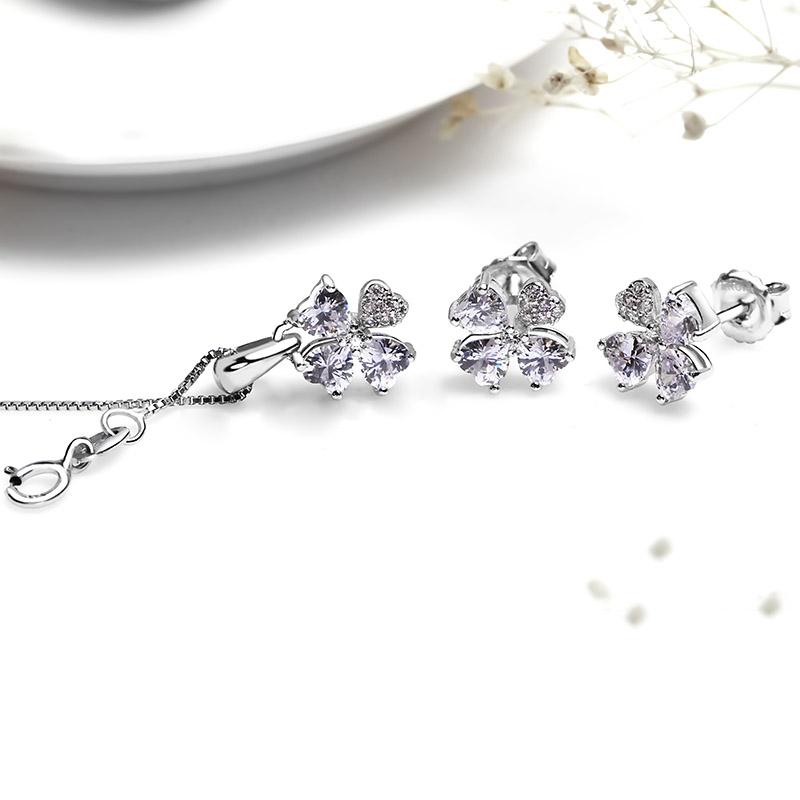 Bộ trang sức bạc Lucky Flower
