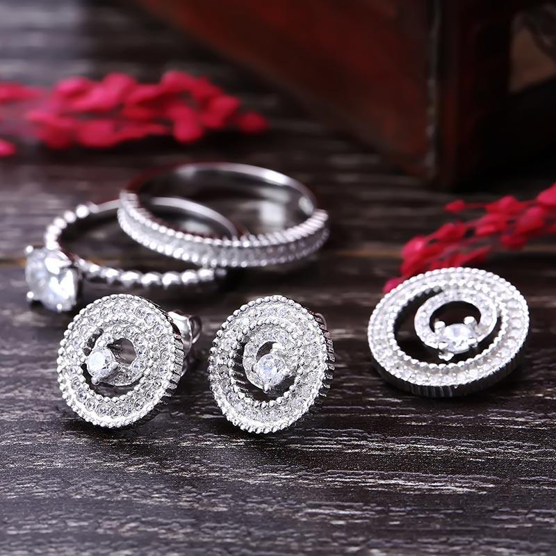 Bộ trang sức bạc Luxury Circle - 4450104 , 102080005 , 249_102080005 , 1230000 , Bo-trang-suc-bac-Luxury-Circle-249_102080005 , eropi.com , Bộ trang sức bạc Luxury Circle