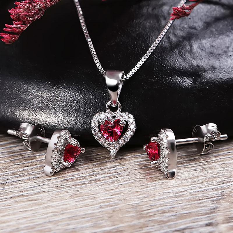 Bộ trang sức bạc Mina Heart - 4450469 , 103080072 , 249_103080072 , 744000 , Bo-trang-suc-bac-Mina-Heart-249_103080072 , eropi.com , Bộ trang sức bạc Mina Heart