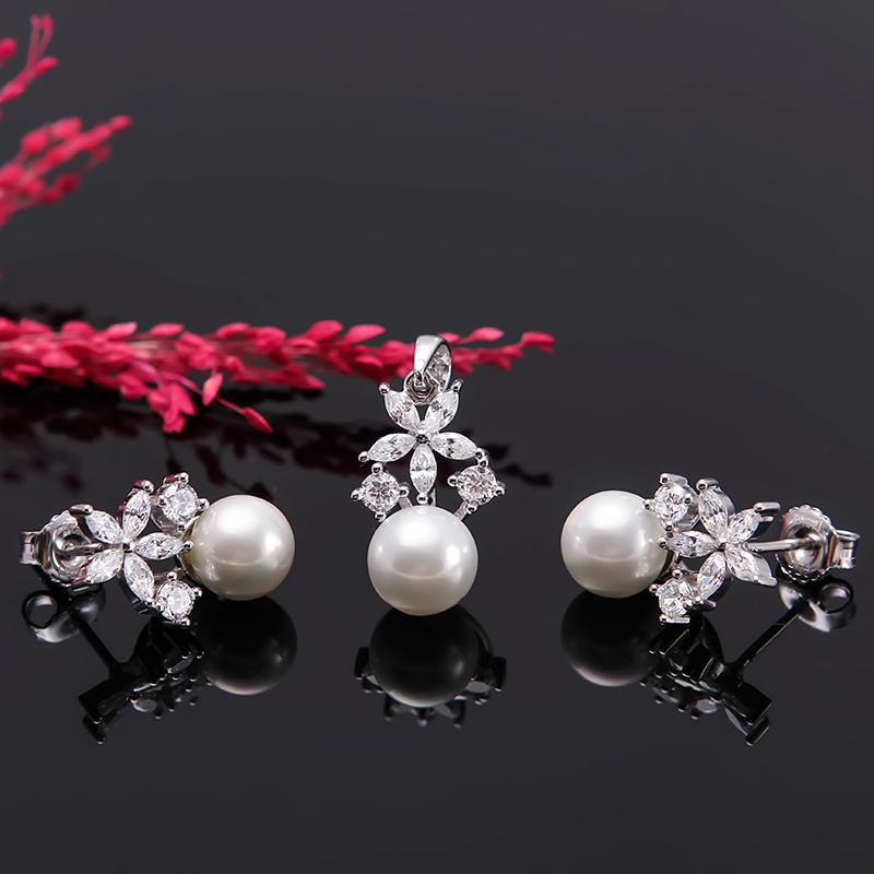 Bộ trang sức bạc ngọc trai Flower - 4452098 , 101070135 , 249_101070135 , 976000 , Bo-trang-suc-bac-ngoc-trai-Flower-249_101070135 , eropi.com , Bộ trang sức bạc ngọc trai Flower