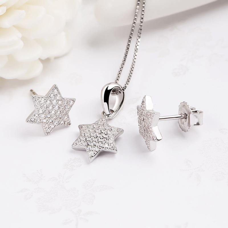 Bộ trang sức bạc Osaka Star