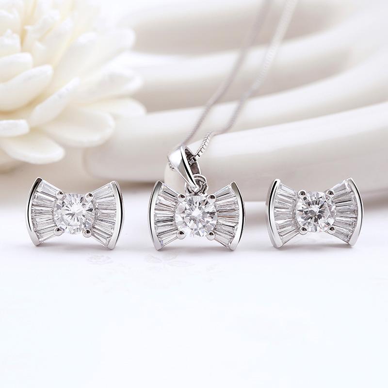 Bộ trang sức bạc Pretty Bow - 4451905 , 101070171 , 249_101070171 , 626000 , Bo-trang-suc-bac-Pretty-Bow-249_101070171 , eropi.com , Bộ trang sức bạc Pretty Bow
