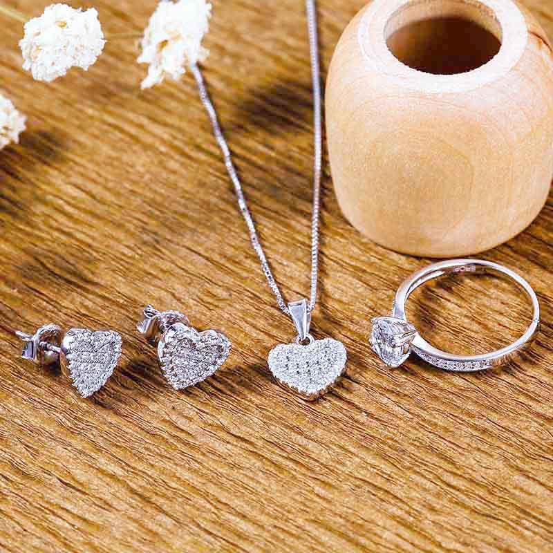 Bộ trang sức bạc Pure Heart - 4450716 , 100090005 , 249_100090005 , 967000 , Bo-trang-suc-bac-Pure-Heart-249_100090005 , eropi.com , Bộ trang sức bạc Pure Heart