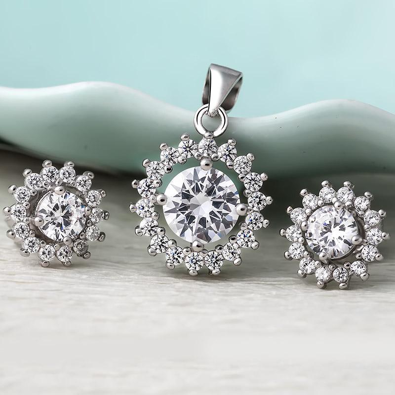 Bộ trang sức bạc Roxa Flower - 4452091 , 101070007 , 249_101070007 , 568000 , Bo-trang-suc-bac-Roxa-Flower-249_101070007 , eropi.com , Bộ trang sức bạc Roxa Flower