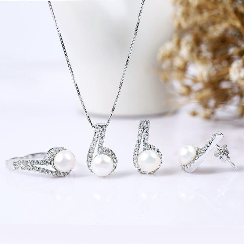 Bộ trang sức bạc Six Pearl - 4450762 , 102080016 , 249_102080016 , 957000 , Bo-trang-suc-bac-Six-Pearl-249_102080016 , eropi.com , Bộ trang sức bạc Six Pearl