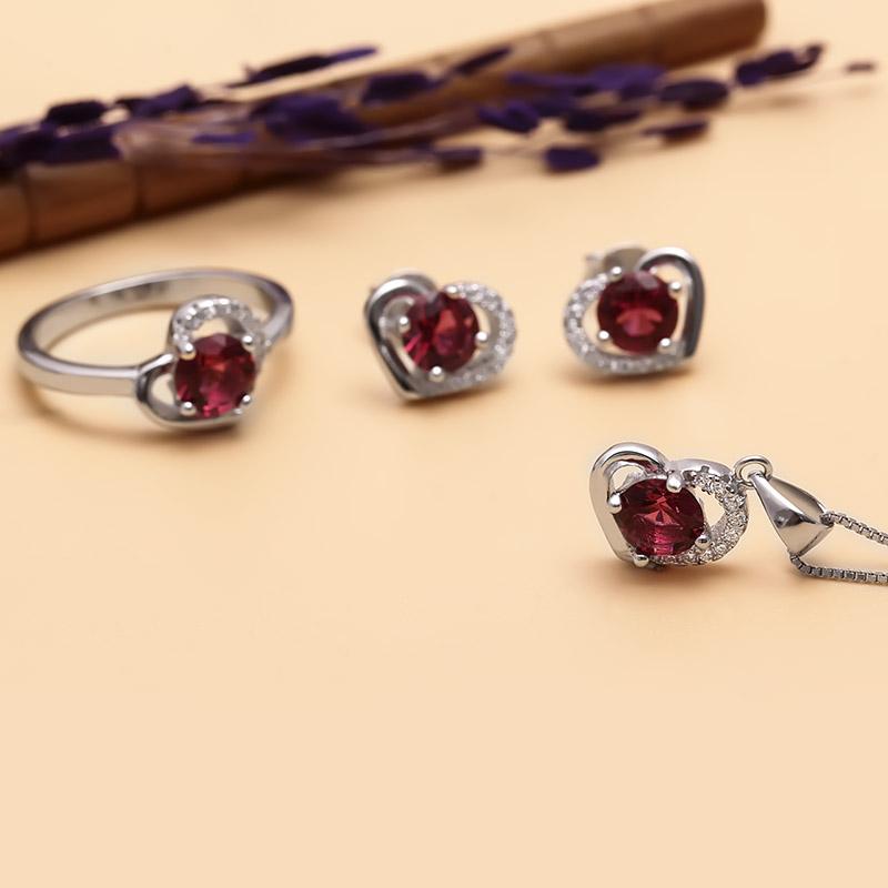Bộ trang sức bạc The Red Heart