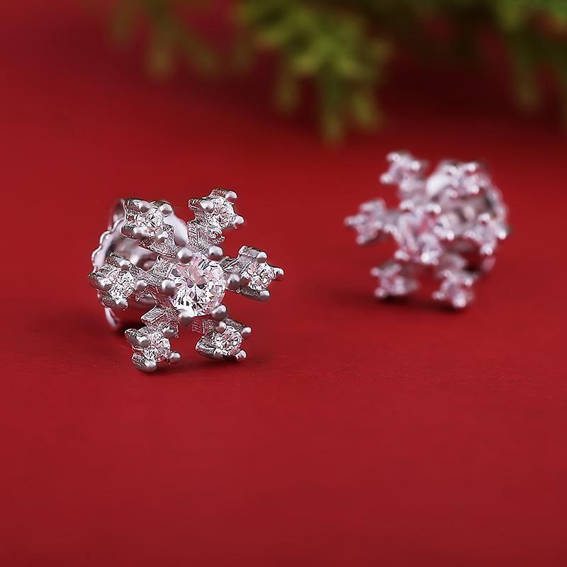 Bông tai bạc Amazing Snowflakes - 4451324 , 101020512 , 249_101020512 , 279000 , Bong-tai-bac-Amazing-Snowflakes-249_101020512 , eropi.com , Bông tai bạc Amazing Snowflakes