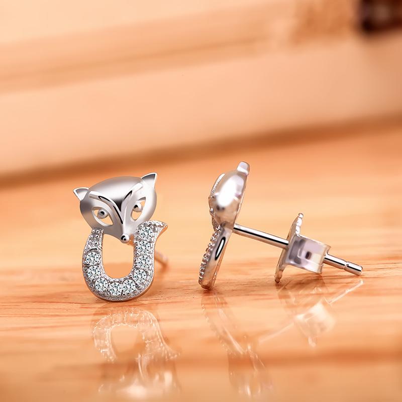 Bông tai bạc Cute Fox - 4452374 , 101020570 , 249_101020570 , 262000 , Bong-tai-bac-Cute-Fox-249_101020570 , eropi.com , Bông tai bạc Cute Fox