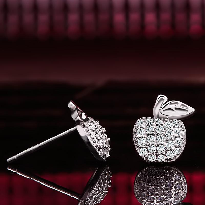 Bông tai bạc Little Apple