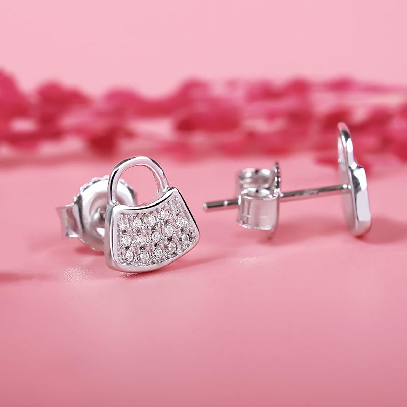 Bông tai bạc Security Locks - 4451325 , 101020630 , 249_101020630 , 255000 , Bong-tai-bac-Security-Locks-249_101020630 , eropi.com , Bông tai bạc Security Locks