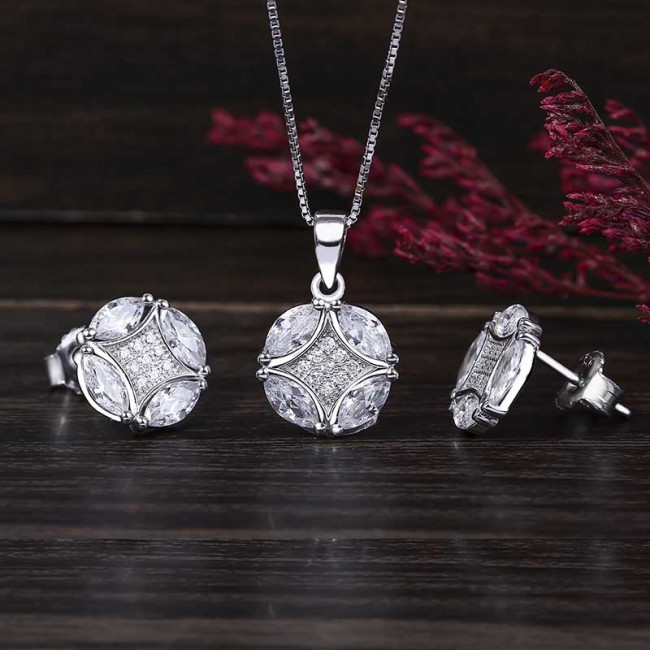 Bộ trang sức bạc Candy Love 2