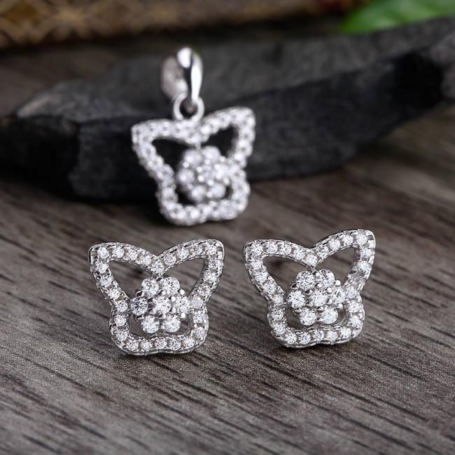 Bộ trang sức bạc Elena Butterfly 3