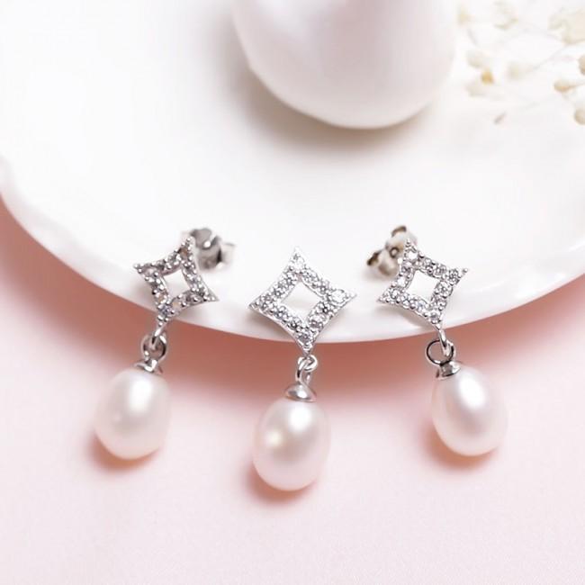 Bộ trang sức bạc Excellent Pearl  2