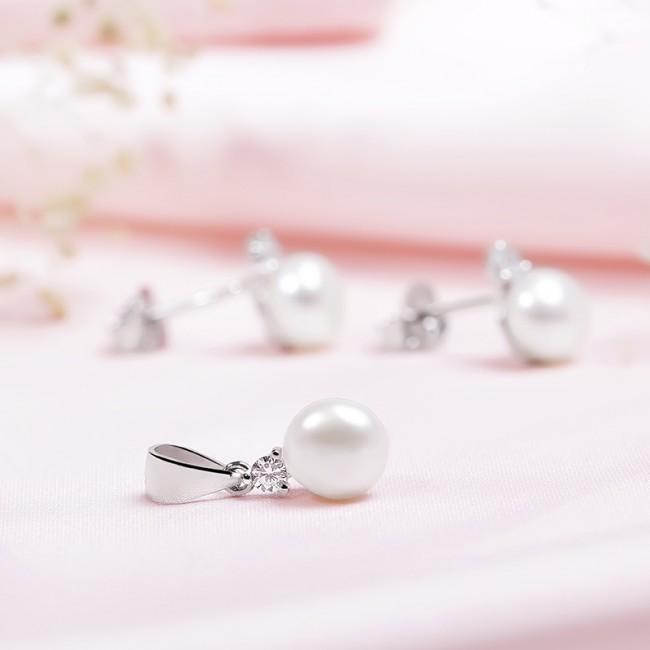 Bộ trang sức bạc Local Queen Pearl 3