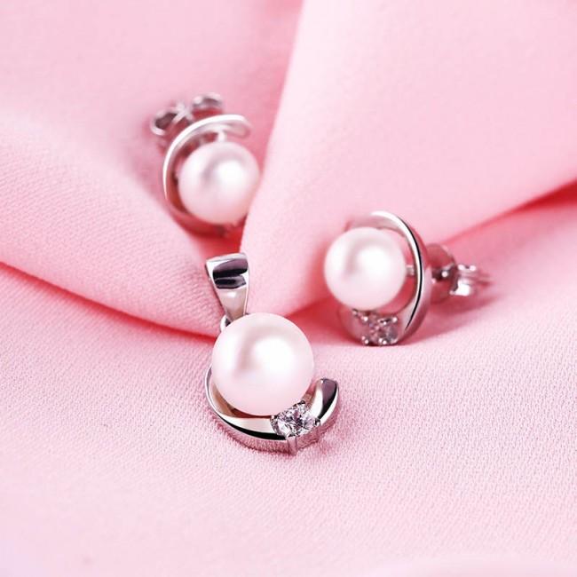 Bộ trang sức bạc Lovely Pearl 3