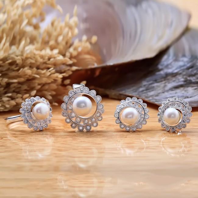 Bộ trang sức bạc ngọc trai Sunny 2