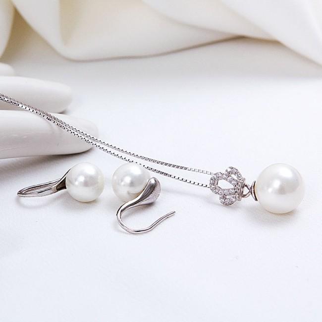 Bộ trang sức bạc Queen Pearl 3