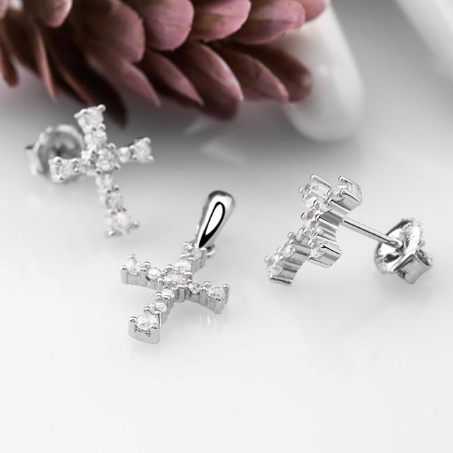 Bộ trang sức bạc Strong Cross 2