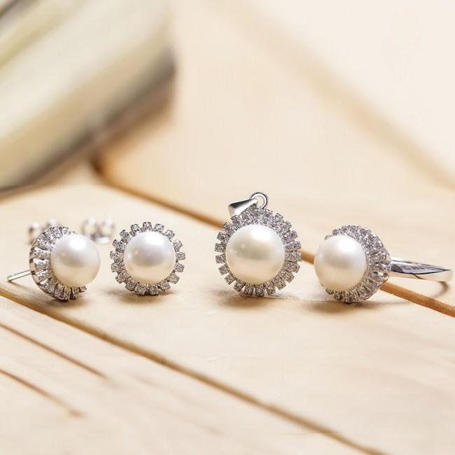 Bộ trang sức bạc Sunlight Pearl 2