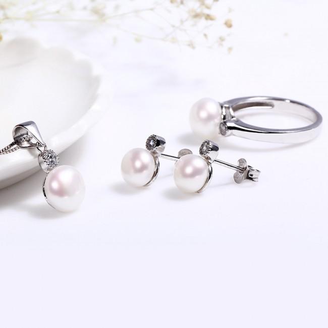 Bộ trang sức bạc Sunshine Pearl 2
