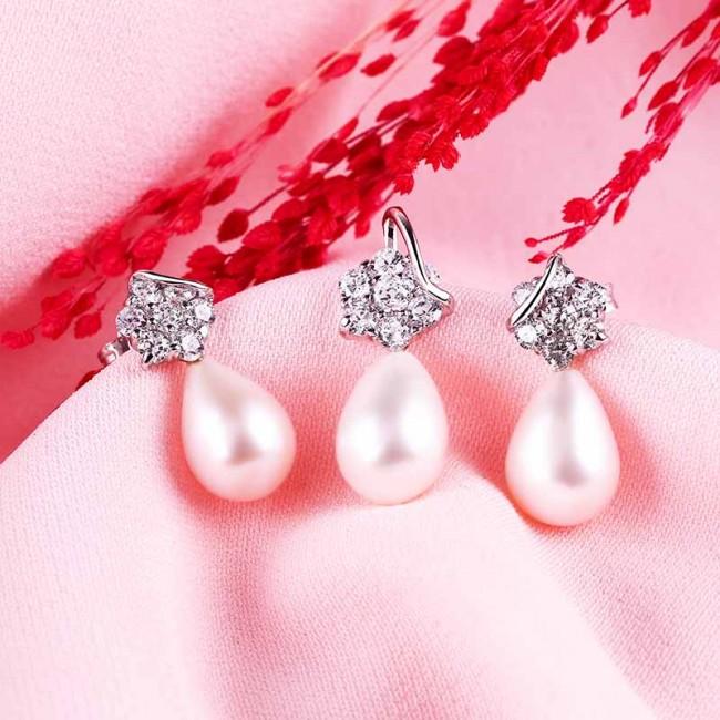 Bộ trang sức bạc Twinkle Pearl 3