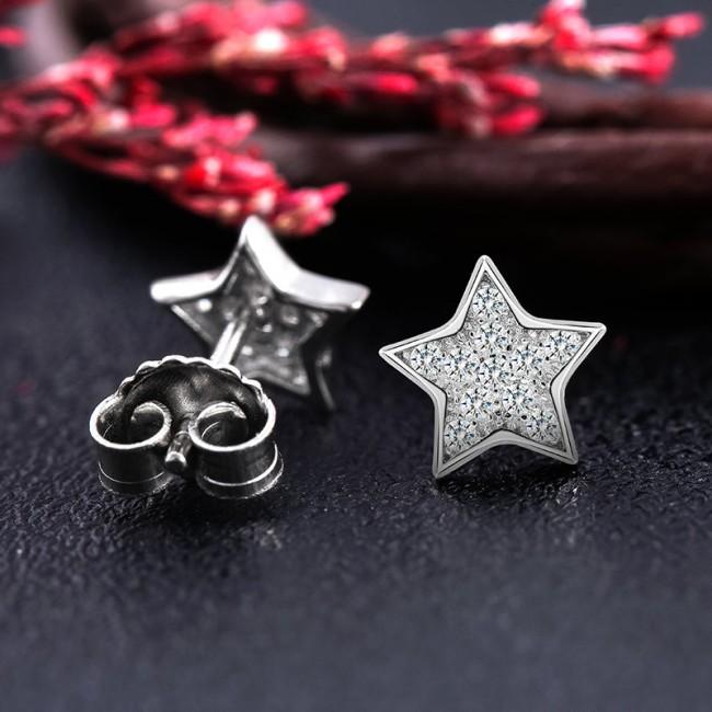 Bông tai bạc Hesta Star 3