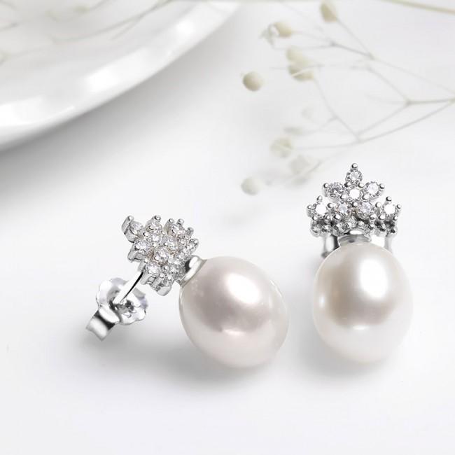 Bông tai bạc Loving Pearl 3