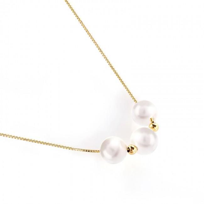 Dây chuyền bạc White Pearls 3