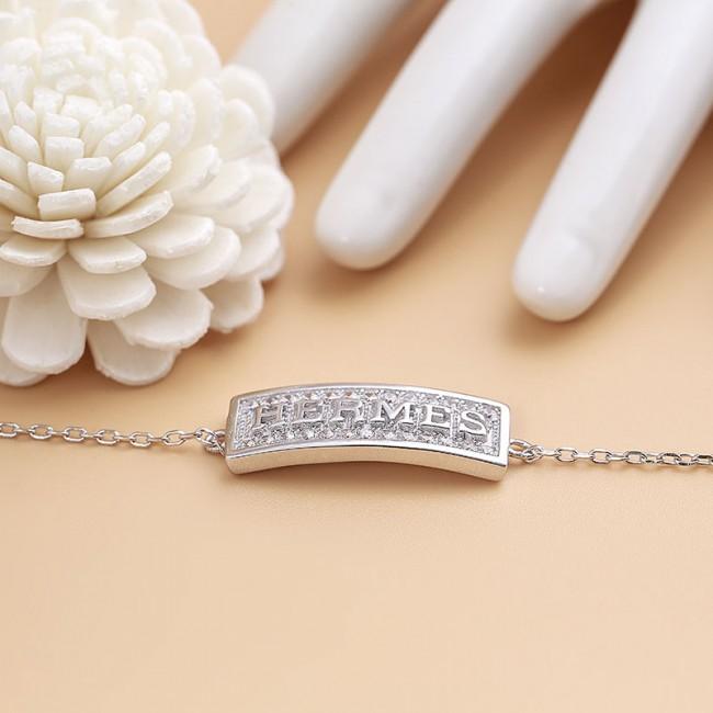 Lắc tay bạc Hermes 3