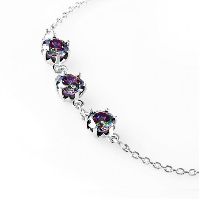 Lắc tay bạc Lilacs 3