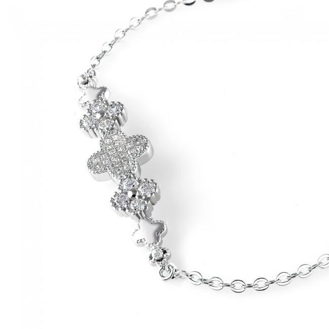 Lắc tay bạc Lucky Flower 3