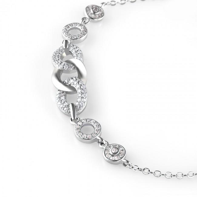 Lắc tay bạc Luxurious 3