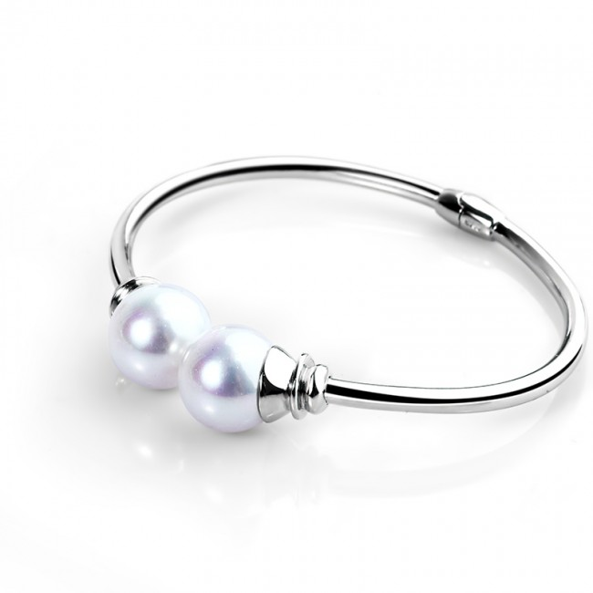 Lắc tay bạc White Pearls 3